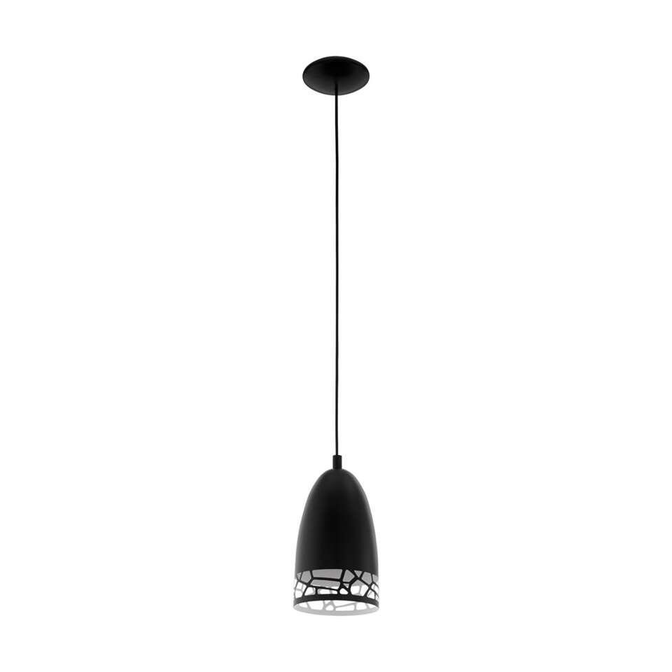 EGLO hanglamp Savignano - zwart - 16 cm