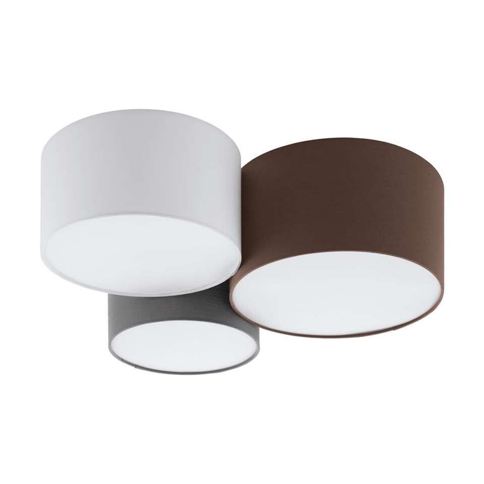 EGLO plafondlamp Pastore – antraciet/bruin/grijs/wit – Leen Bakker
