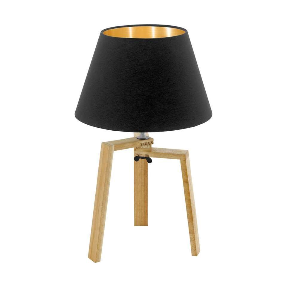 EGLO tafellamp Chietino - hout/zwart - Leen Bakker