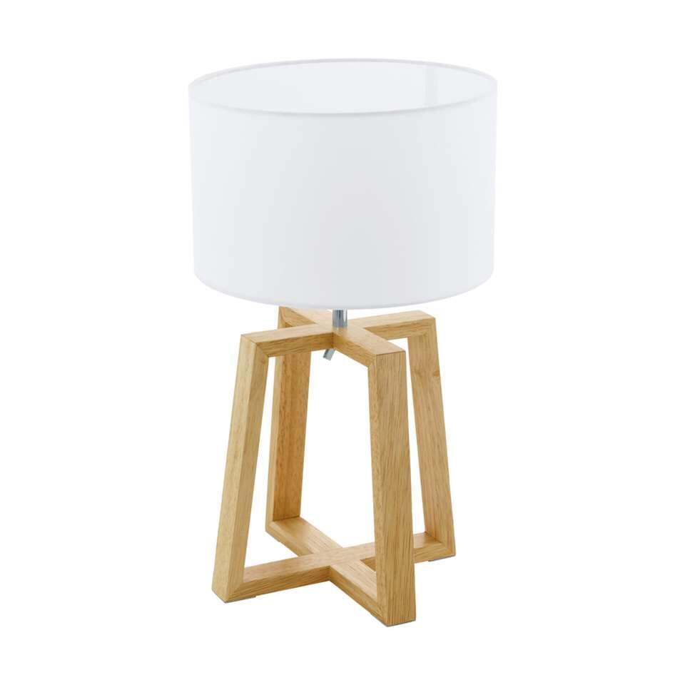 EGLO tafellamp Chietino - hout/wit - Leen Bakker