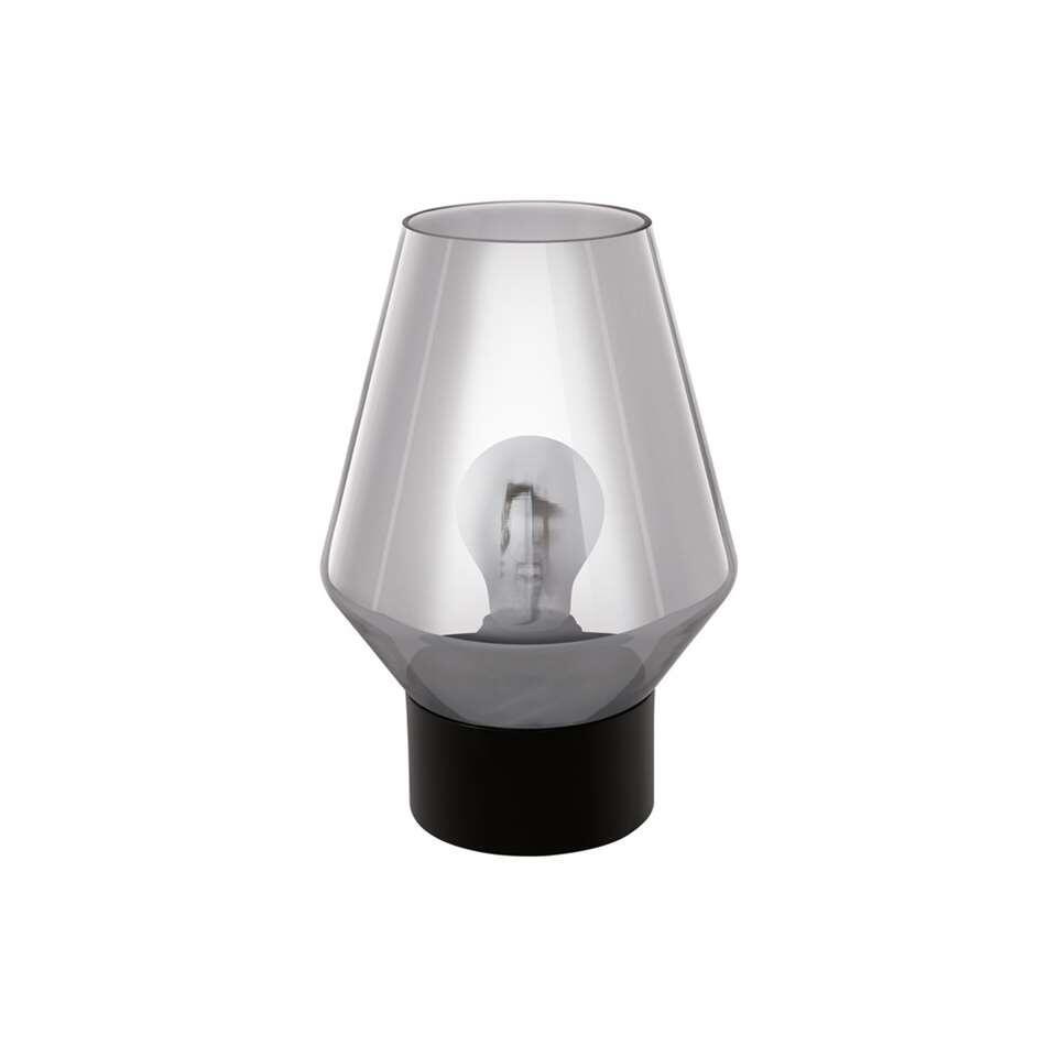 EGLO tafellamp Verelli – zwart/rookglas – Leen Bakker