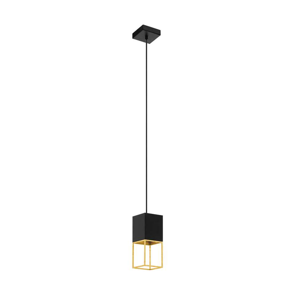 EGLO hanglamp Montebaldo – zwart/goud – Leen Bakker
