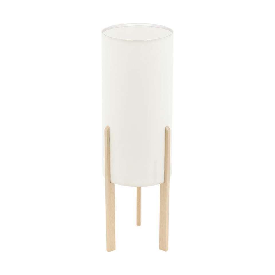 EGLO tafellamp Campodino - hout/beige