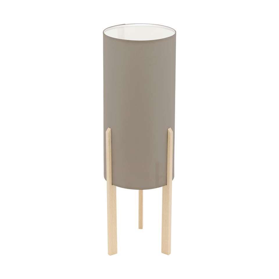 EGLO tafellamp Campodino - hout/taupe