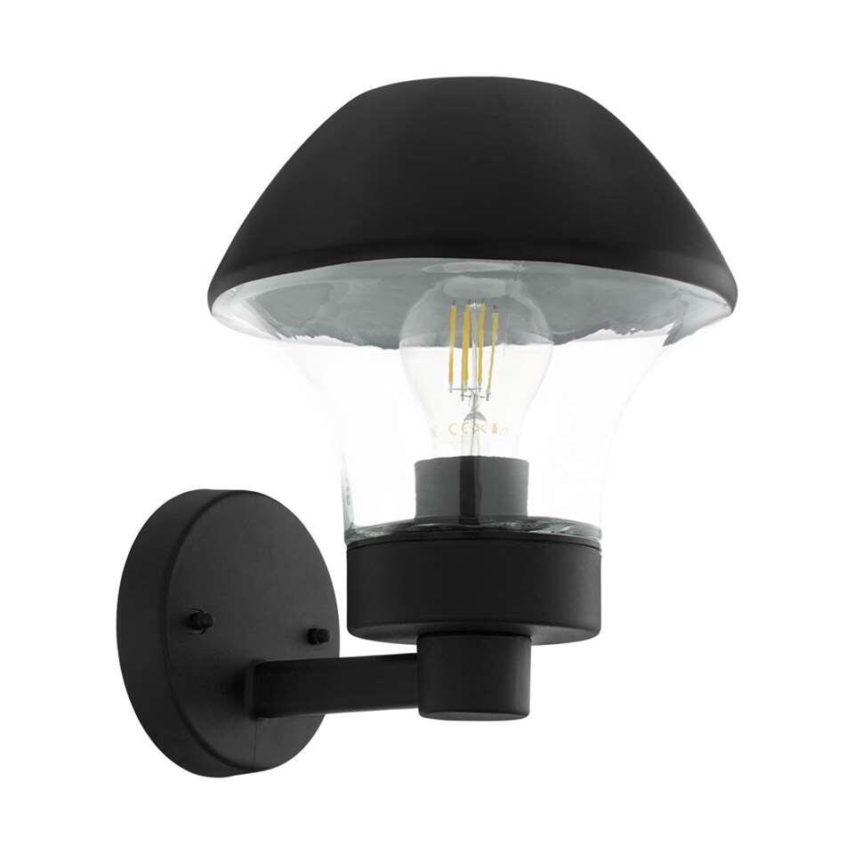 EGLO wandlamp Velucca – zwart/helder – Leen Bakker