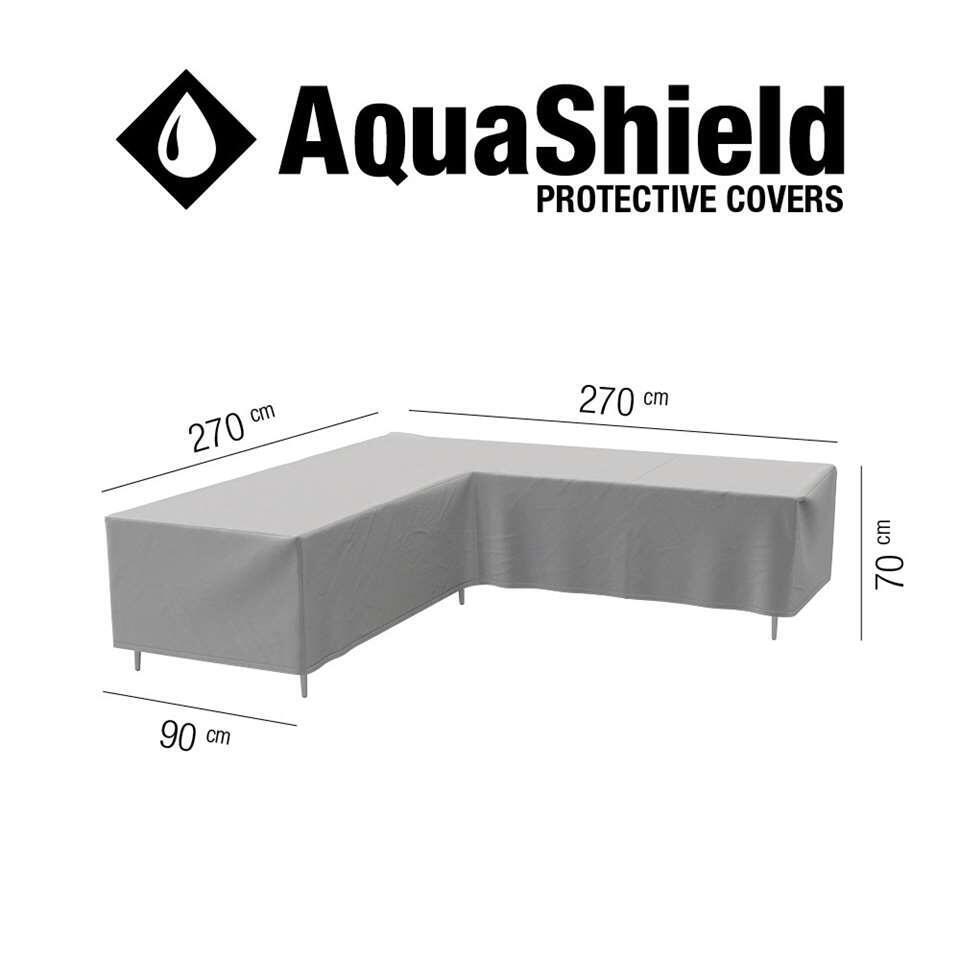 AquaShield loungesethoes L-vorm - 270x270x90x70 cm - Leen Bakker