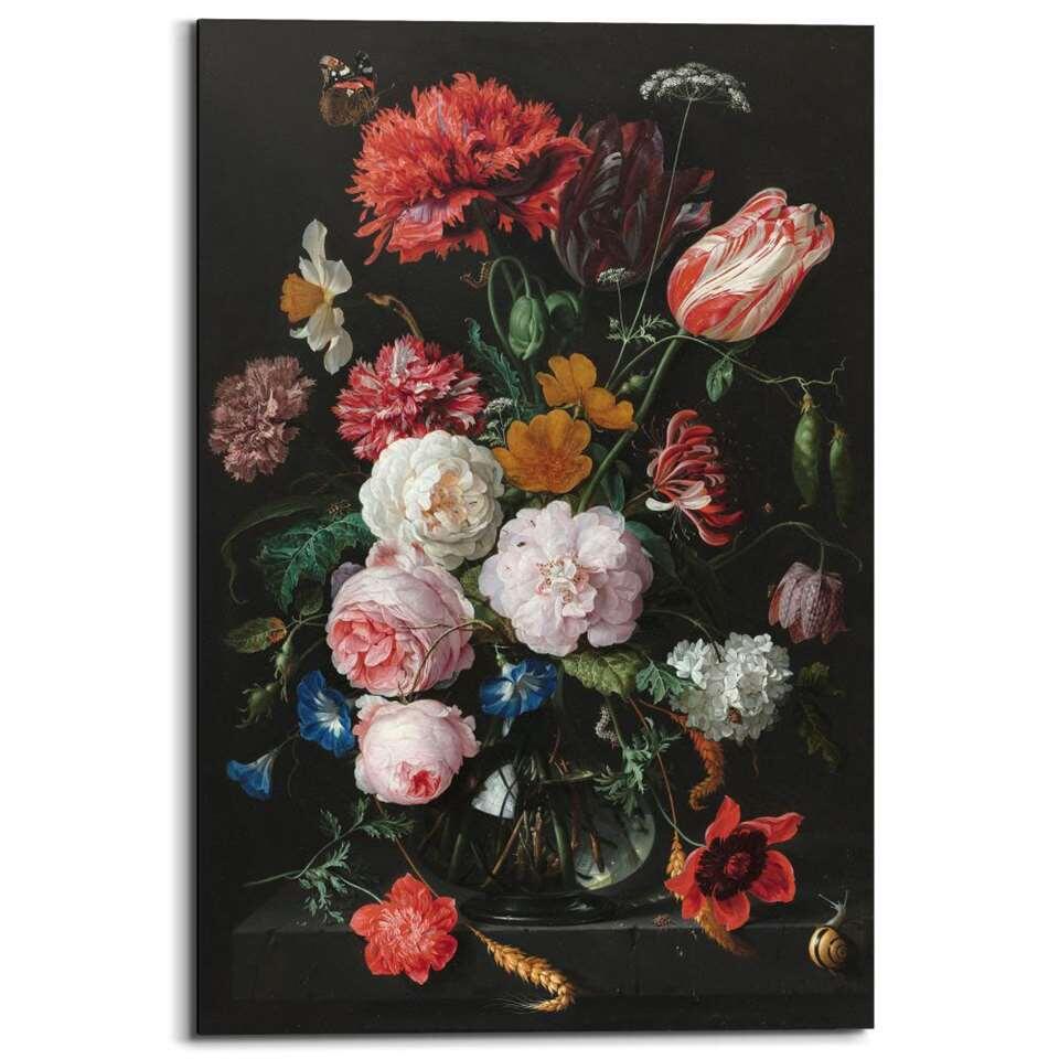 Reinders wandpaneel Jan Davidsz de Heem Stilleven met bloemen – multikleur – 60x90cm – Leen Bakker