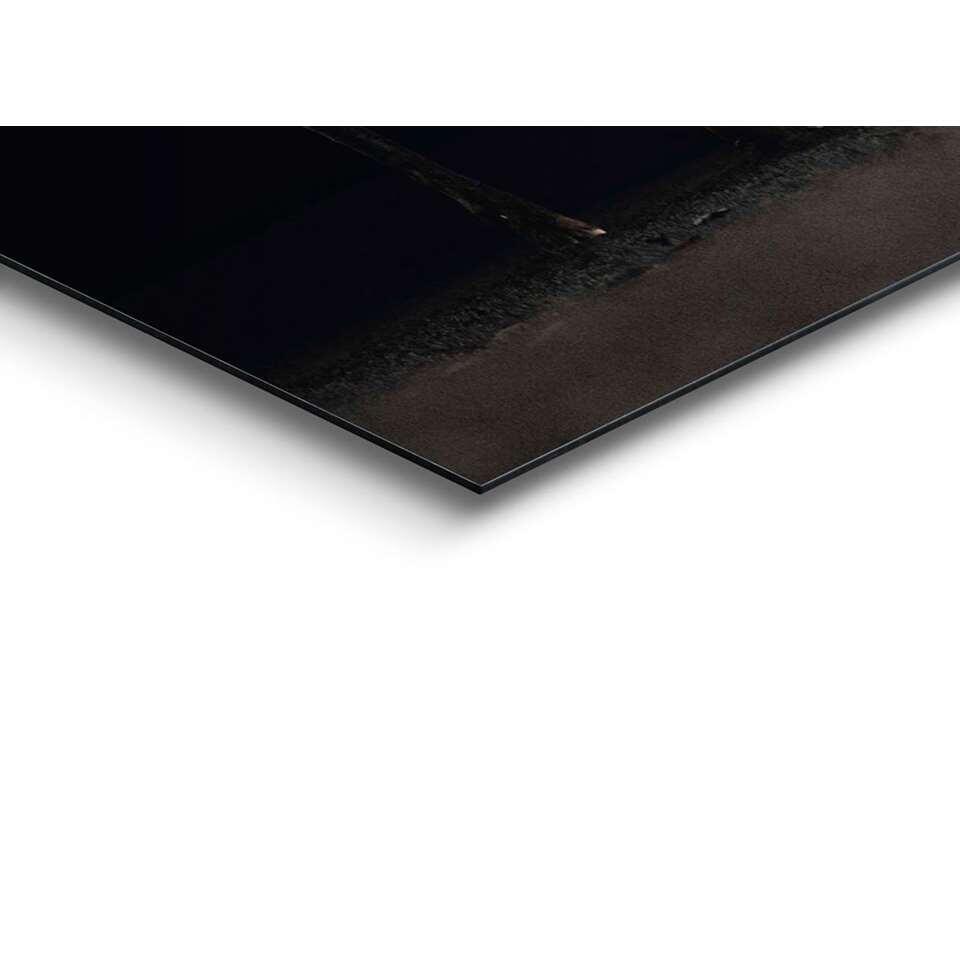 Wandpaneel Hert - bruin/zwart - 60x90cm