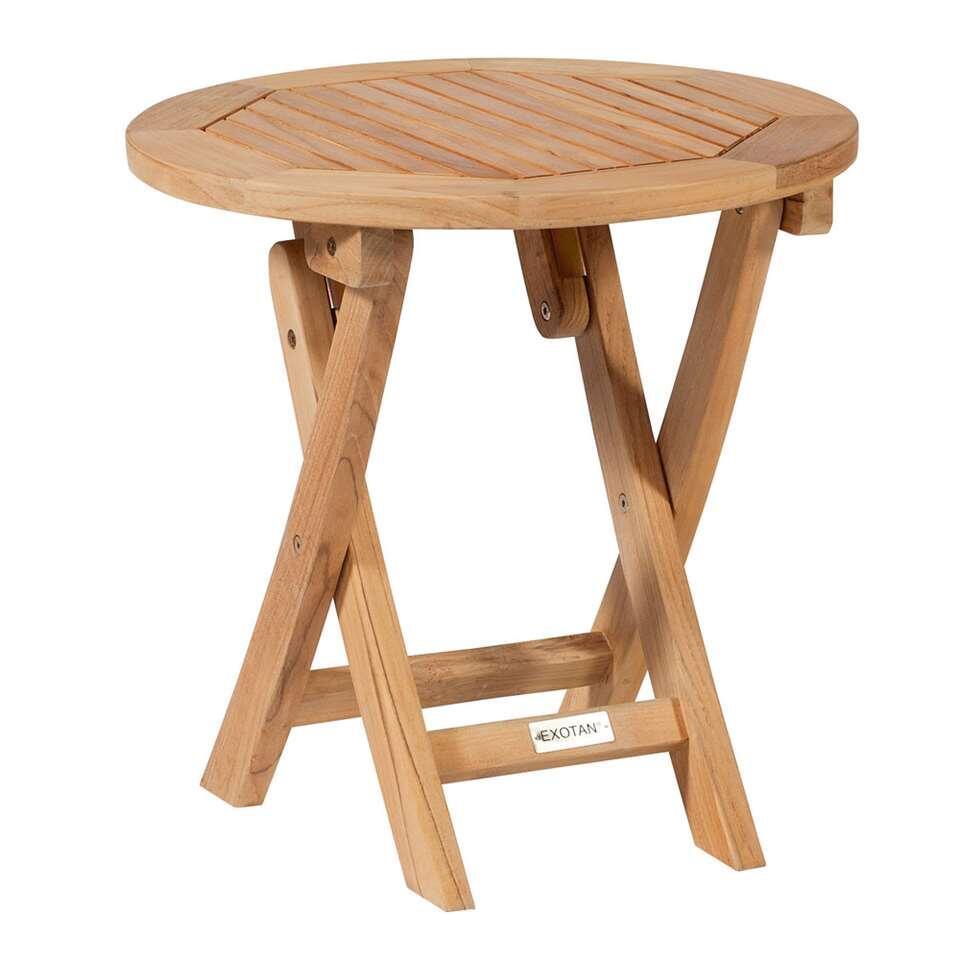Exotan klaptafel rond - teakhout - Ø45x45 cm - Leen Bakker