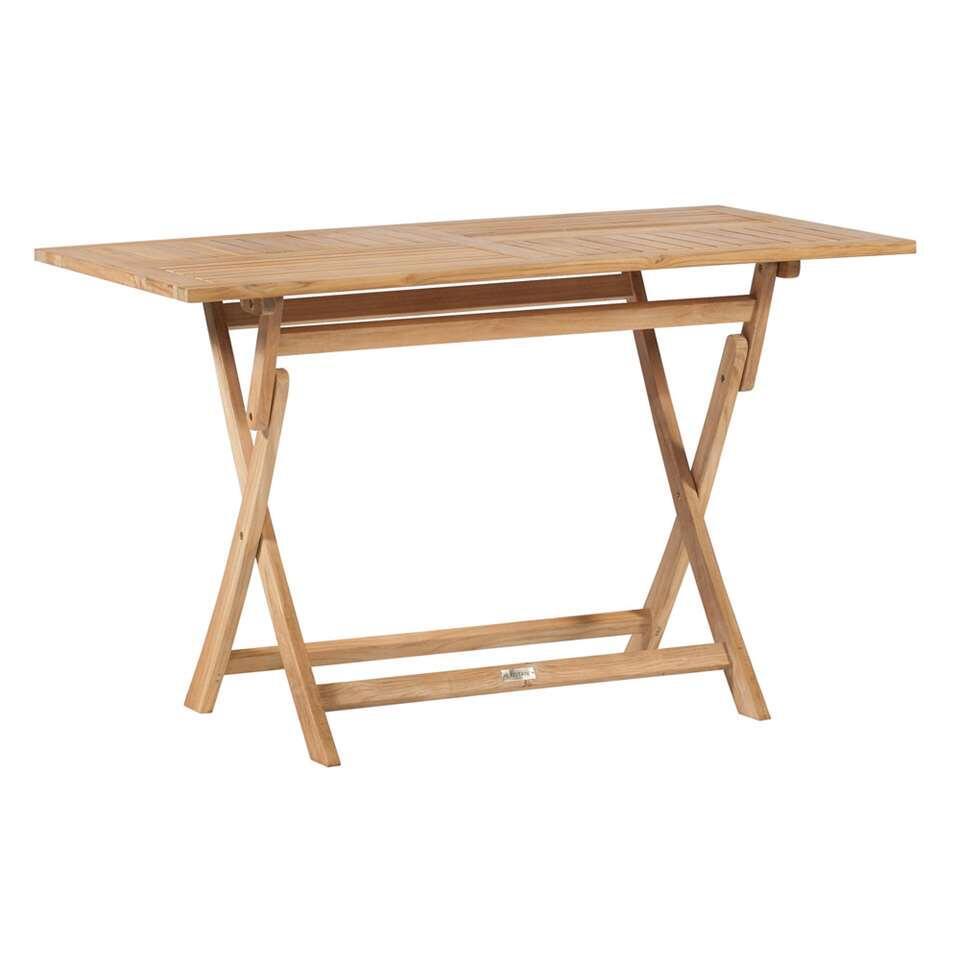 Exotan klaptafel - teakhout - 120x70x75 cm - Leen Bakker