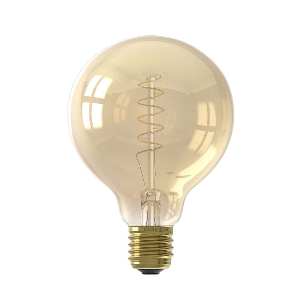 Calex Flex Globe LED lamp - goud - 4W