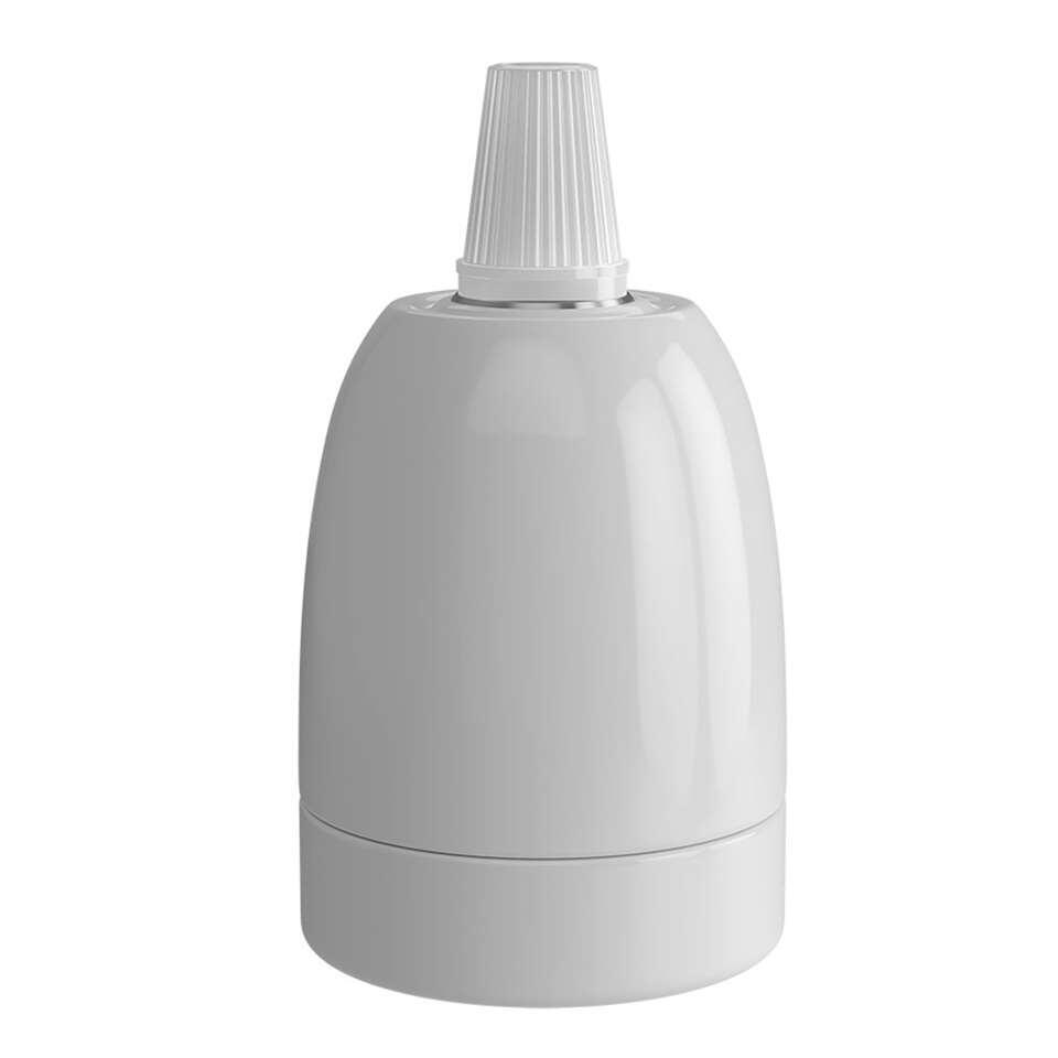 Calex lamphouder E27 – keramiek – wit – Leen Bakker