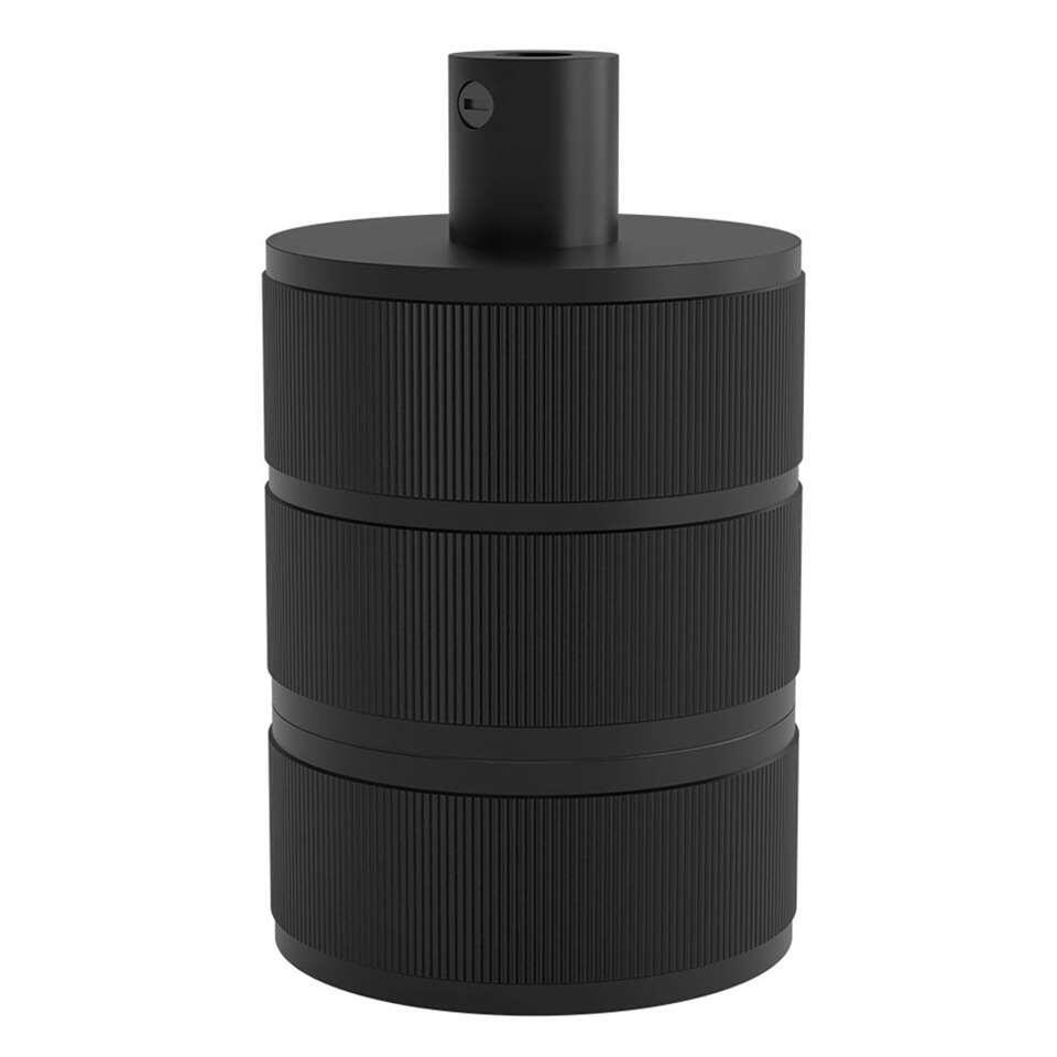 Calex lamphouder E27 – 3 – rings – mat zwart – Leen Bakker