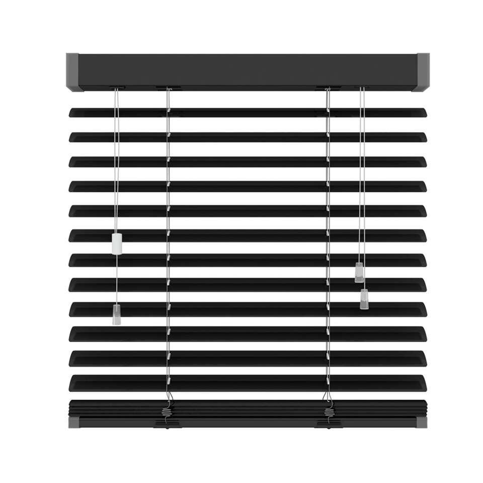 Jaloezie aluminium 50 mm - mat zwart - 140x180 cm - Leen Bakker