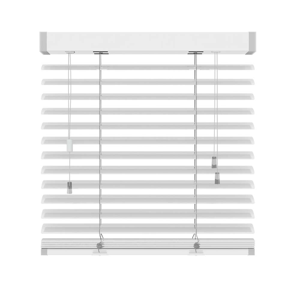 Horizontale jaloezie aluminium 50 mm - mat wit - 140x180 cm - Leen Bakker