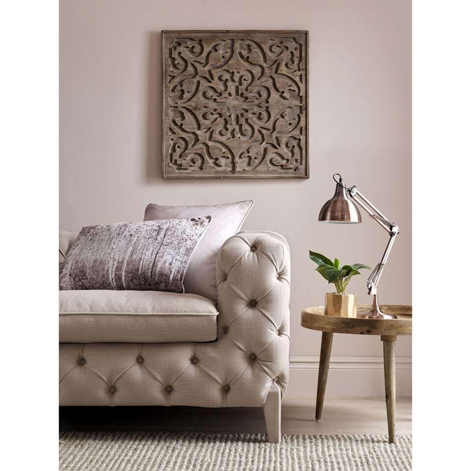 Art For The Home houten paneel Bazaar - bruin - 62x62 cm - Leen Bakker