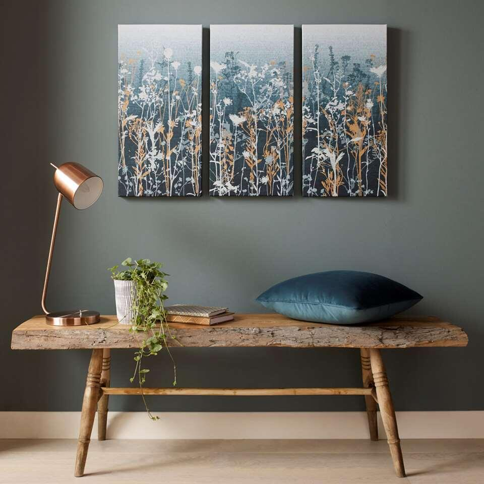 Art For The Home schilderijset Bloemen - multikleur - 3x 30x60 cm