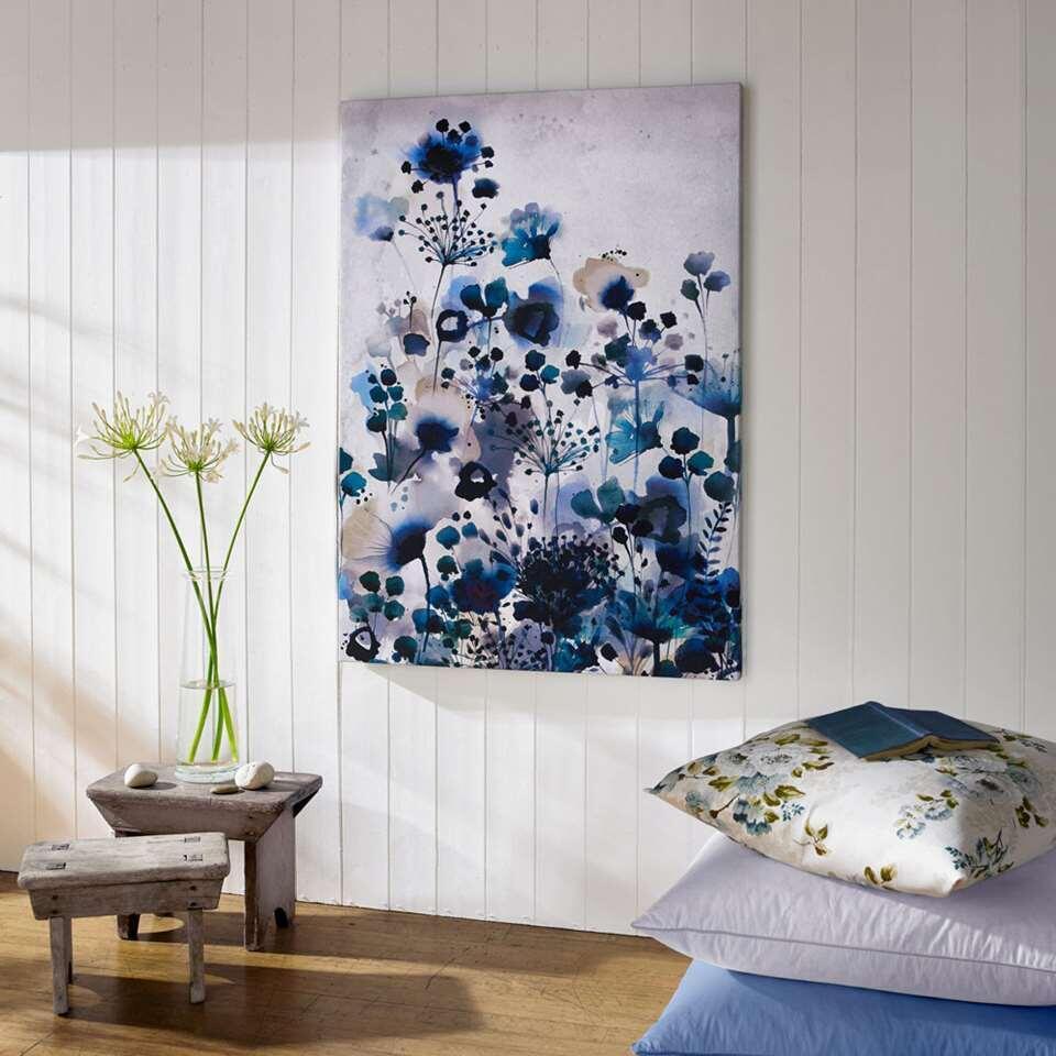 Art For The Home canvas schilderij Bloemen - blauw - 70x100 cm - Leen Bakker