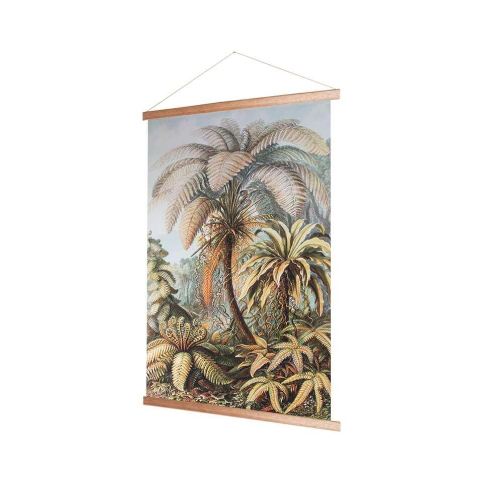 Art For The Home textiel poster Jungle - groen - 70x100 cm
