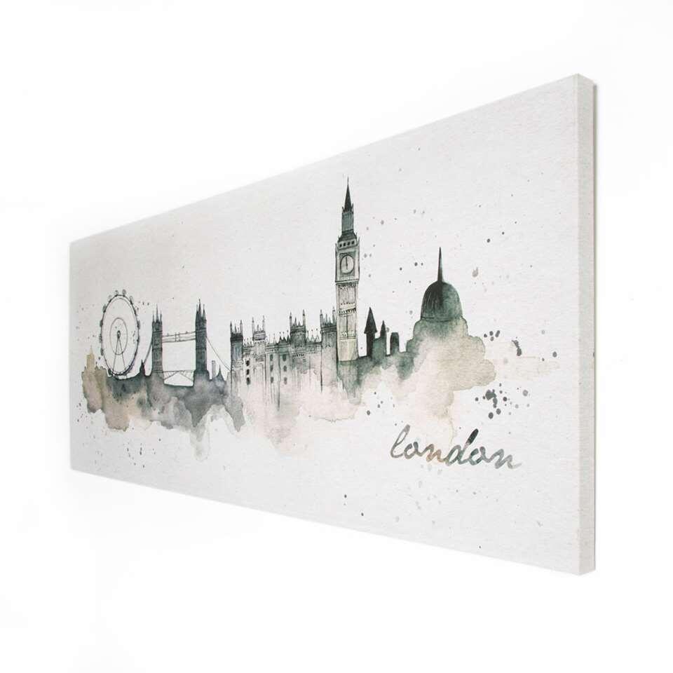 Art For The Home canvas schilderij Londen Waterverf – 120×50 cm – Leen Bakker