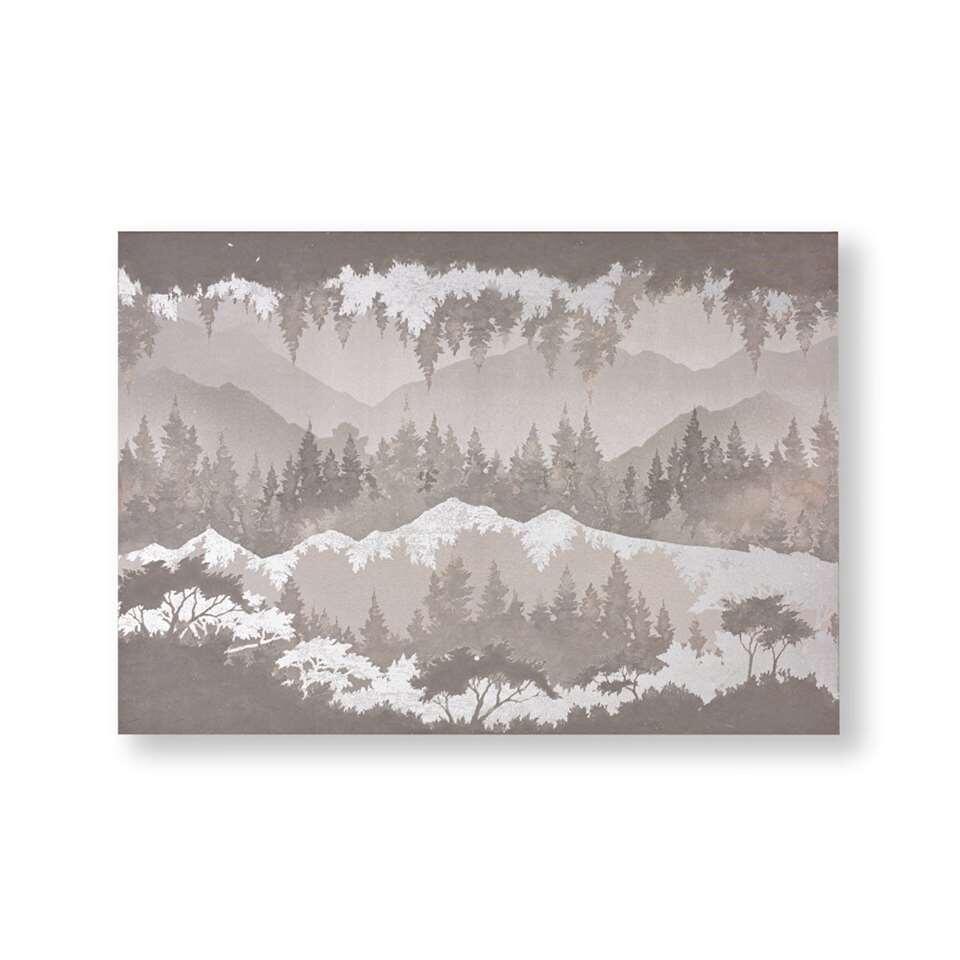 Art For The Home canvas schilderij Landschap - grijs - 100x70 cm - Leen Bakker