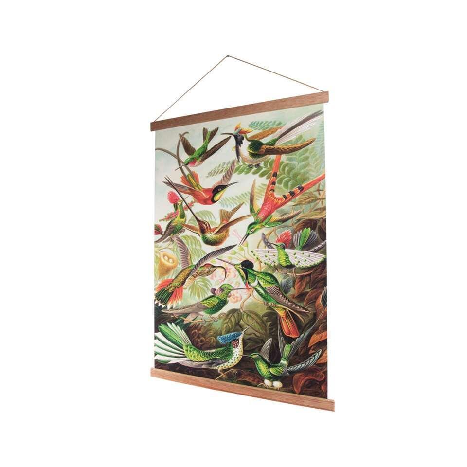 Art for the Home affiche textile Oiseaux - multicolore - 60x80 cm