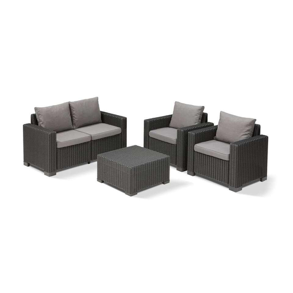 Allibert loungebank California - grijs - 141x68x71,5 cm - Leen Bakker
