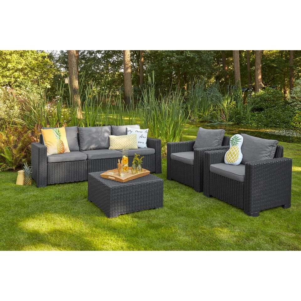 Allibert loungebank California - grijs - 198x68x71,5 cm - Leen Bakker