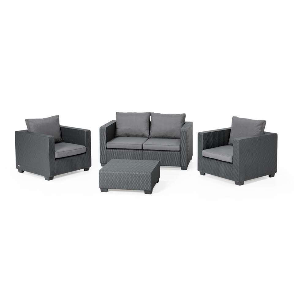 Allibert loungebank Salta - grijs - 141x84x65,5 cm - Leen Bakker
