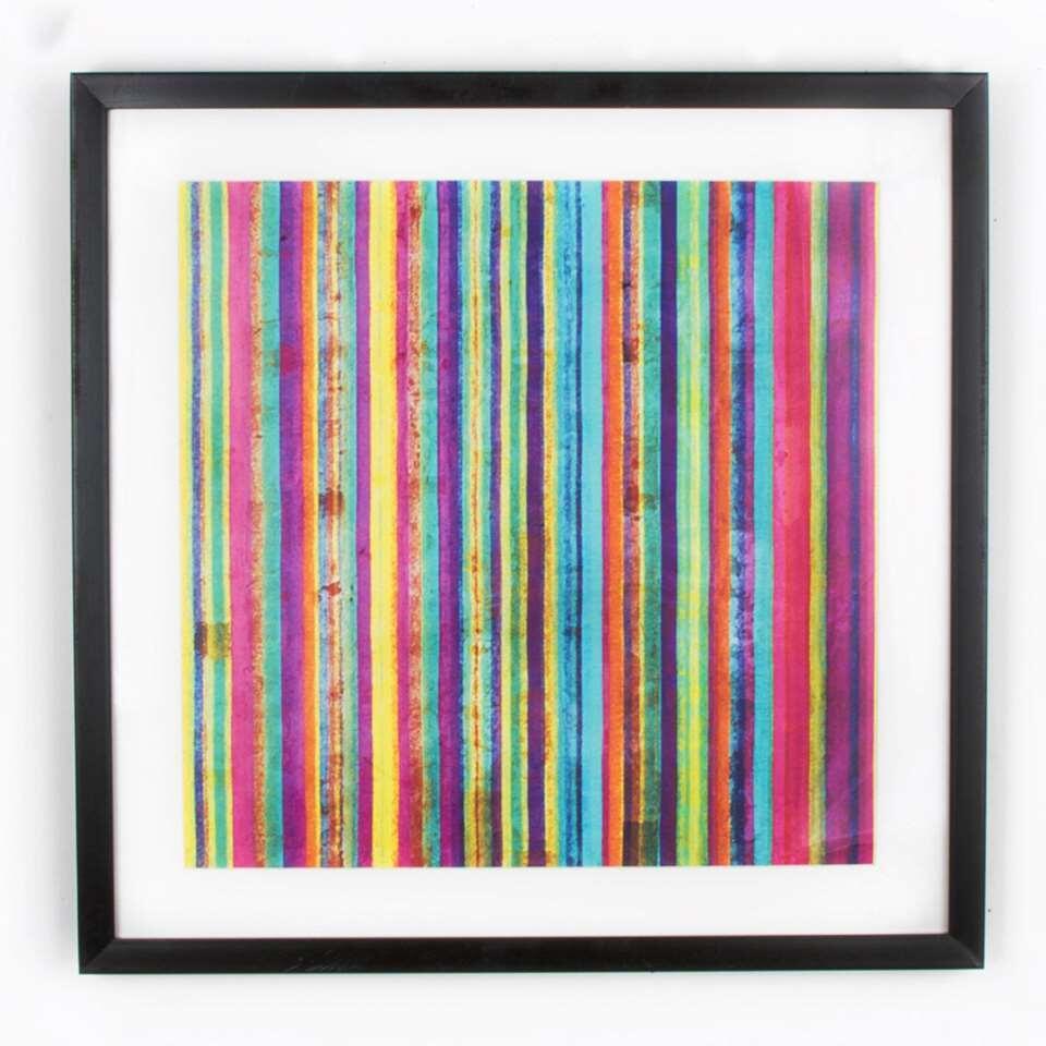 Art For The Home schilderij Neon Streep - multikleur - 50x50 cm - Leen Bakker