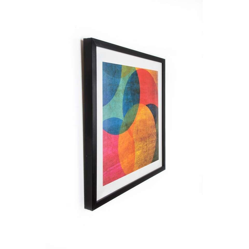 Art For The Home schilderij Neon Cirkel – multikleur – 50×50 cm – Leen Bakker