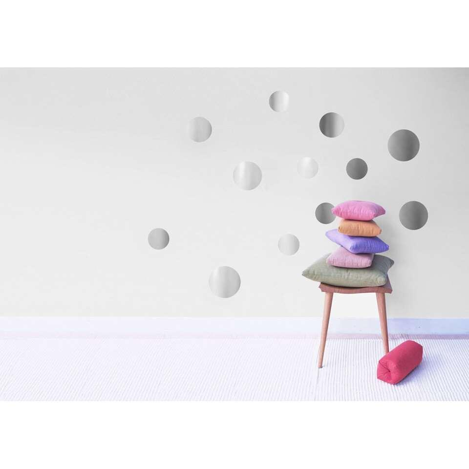 Art For The Home muurstickers Stippen - zilver - 70x25 cm
