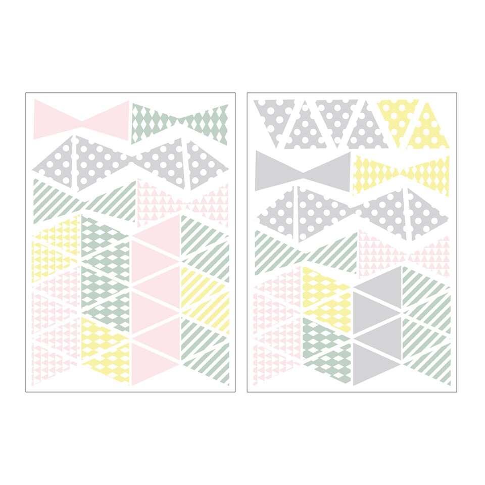 Art For The Home muurstickers Driehoek - multikleur - 17,5x25 cm - Leen Bakker