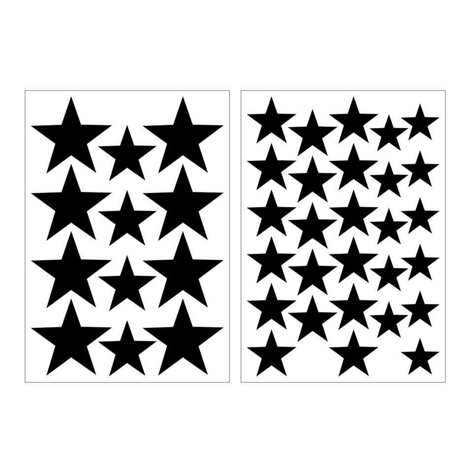 Art For The Home muurstickers Sterren - zwart - 17,5x25 cm