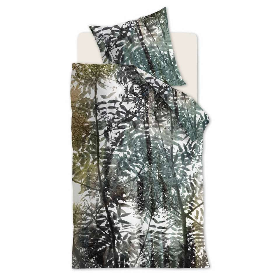 Ambiante dekbedovertrek Jayda - groen - 140x200/220 cm