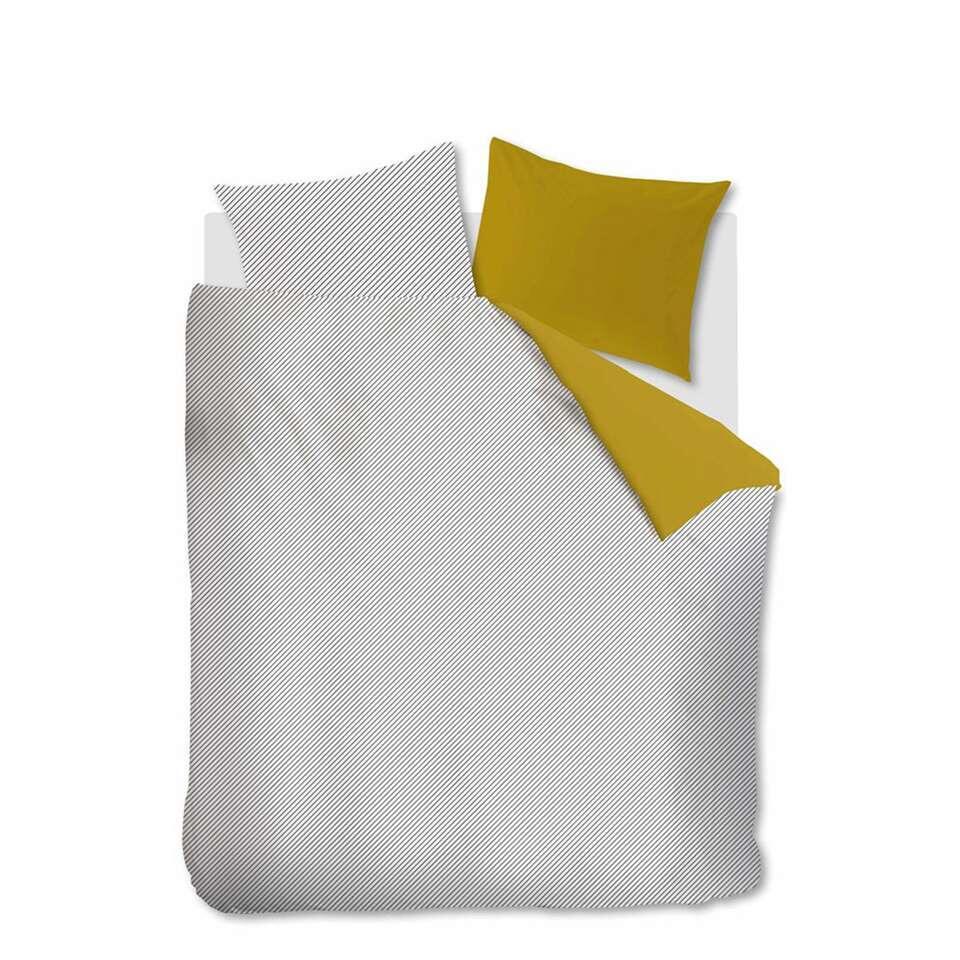 Ambiante dekbedovertrek Jonna - geel - 200x200/220 cm - Leen Bakker