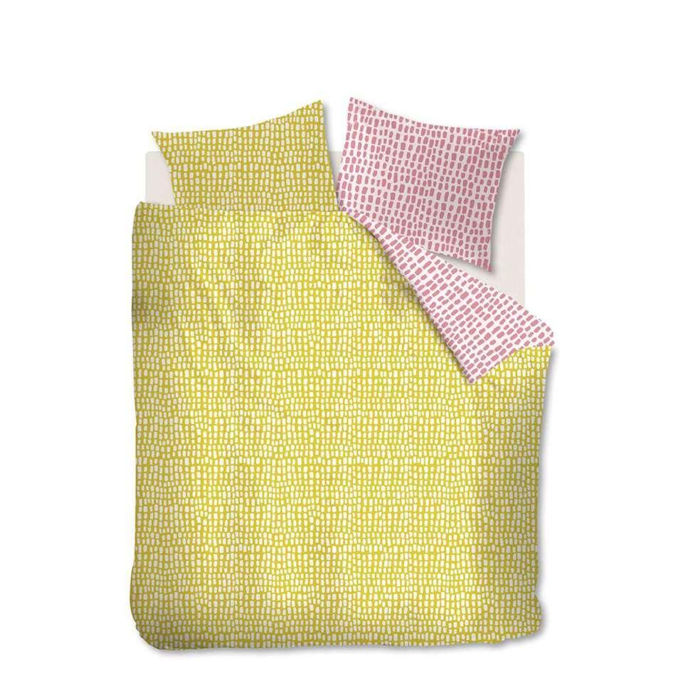 Ambiante dekbedovertrek Sverre – geel – 240×200/220 cm – Leen Bakker