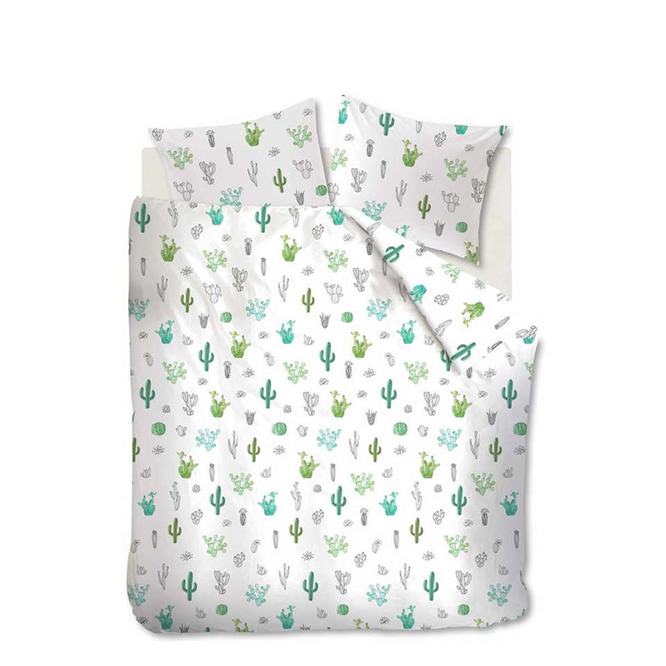 Ambiante dekbedovertrek Cactus - groen - 260x200/220 cm