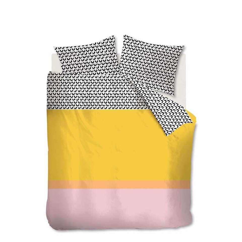 Ambiante dekbedovertrek Mette - geel - 260x200/220 cm - Leen Bakker