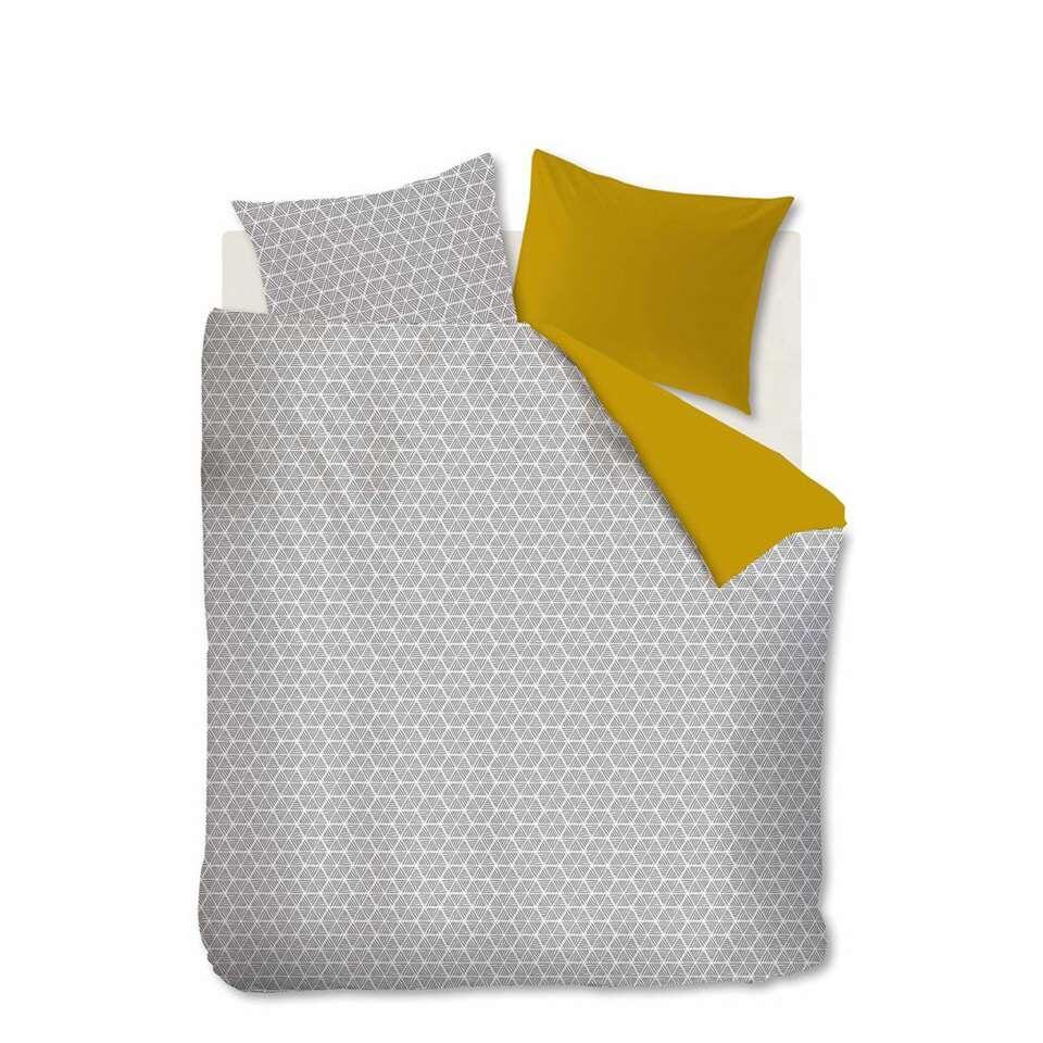 Ambiante dekbedovertrek Todd - geel - 260x200/220 cm - Leen Bakker