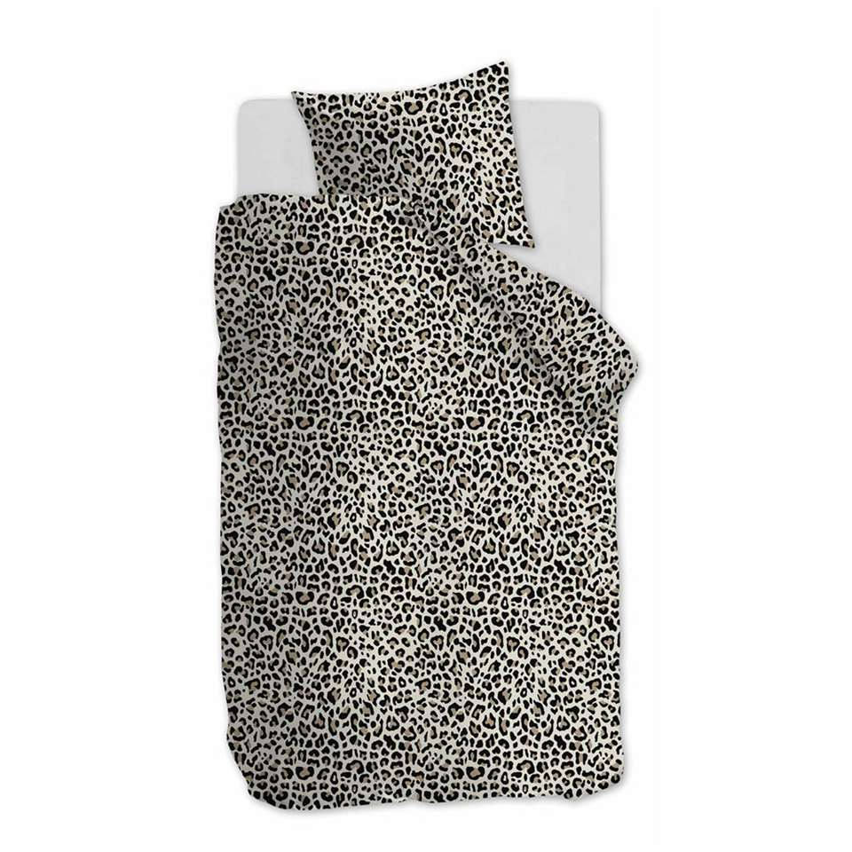Ambiante dekbedovertrek Leopard - naturel - 140x200/220 cm - Leen Bakker