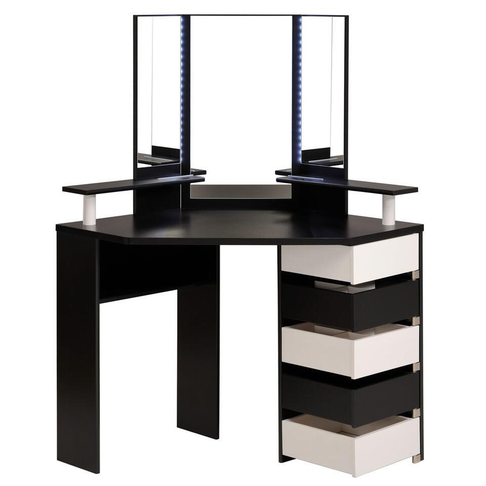Kaptafel Volage - zwart/wit - 142x113,5x61 cm