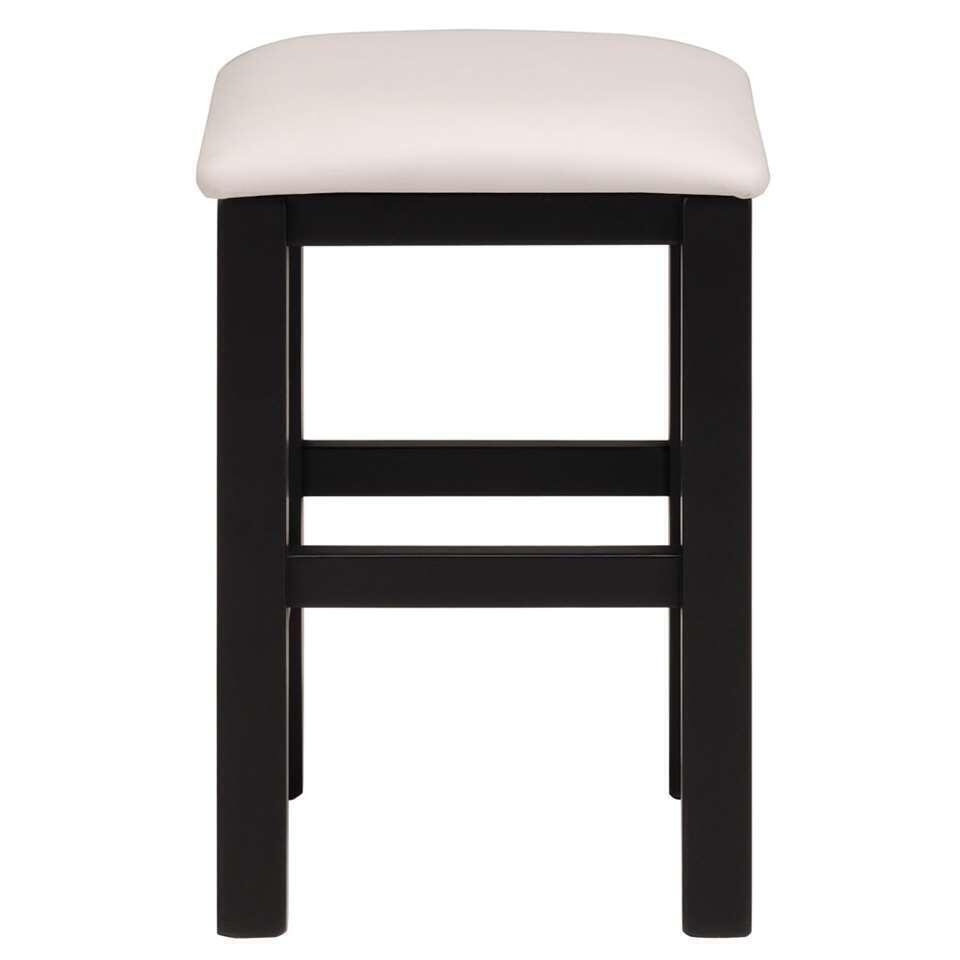Kruk Sitty - zwart - 33,5x50x33,5 cm