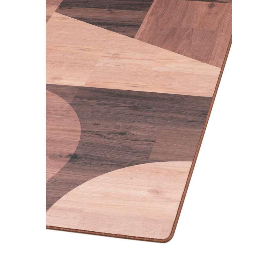 Tarkett vloerkleed Finally Vinyl™ Gemengde materialen - bruin - 170x230 cm - Leen Bakker