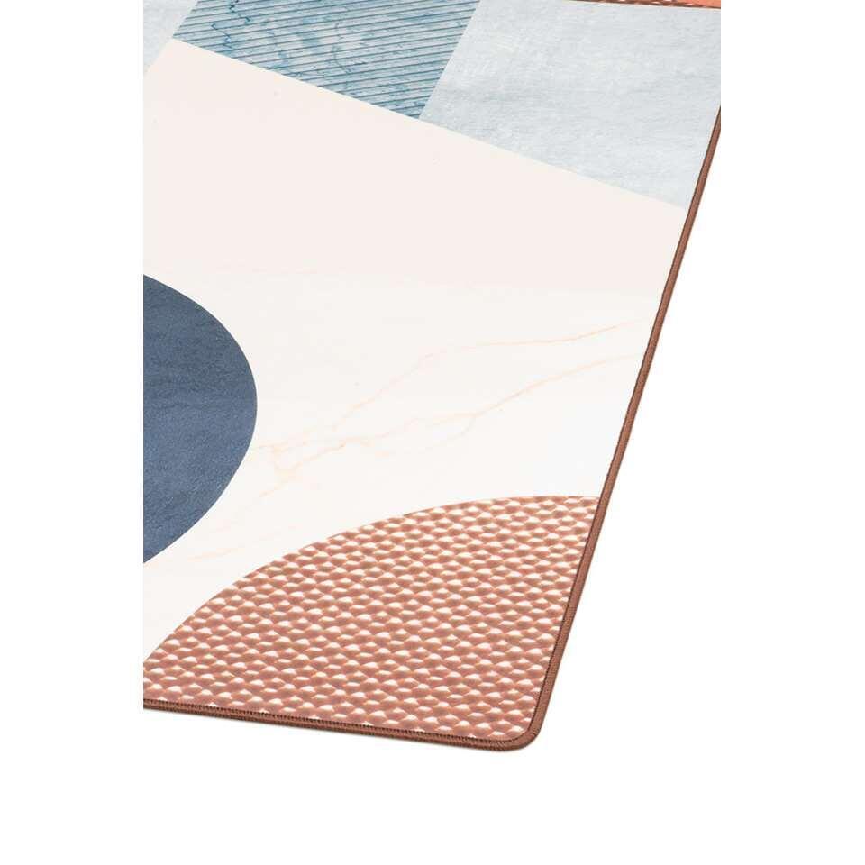 Tarkett vloerkleed Finally Vinyl™ Gemengde materialen - blauw - 166x196 cm - Leen Bakker