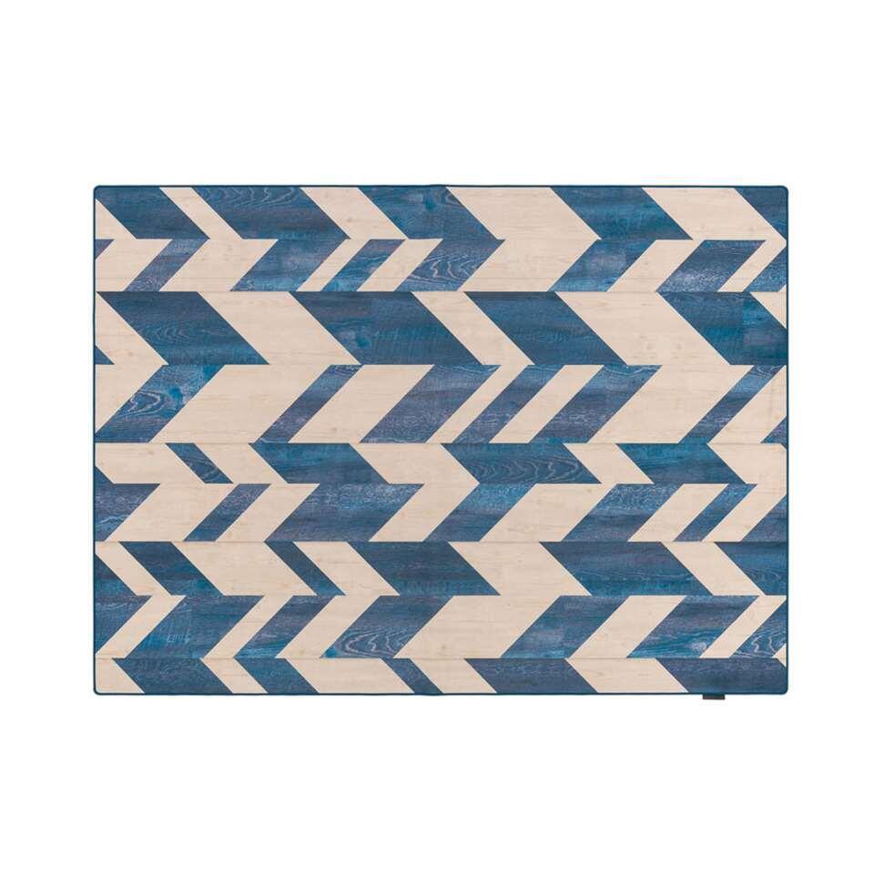 Tarkett vloerkleed Finally Vinyl™ Visgraat - blauw - 166x196 cm - Leen Bakker