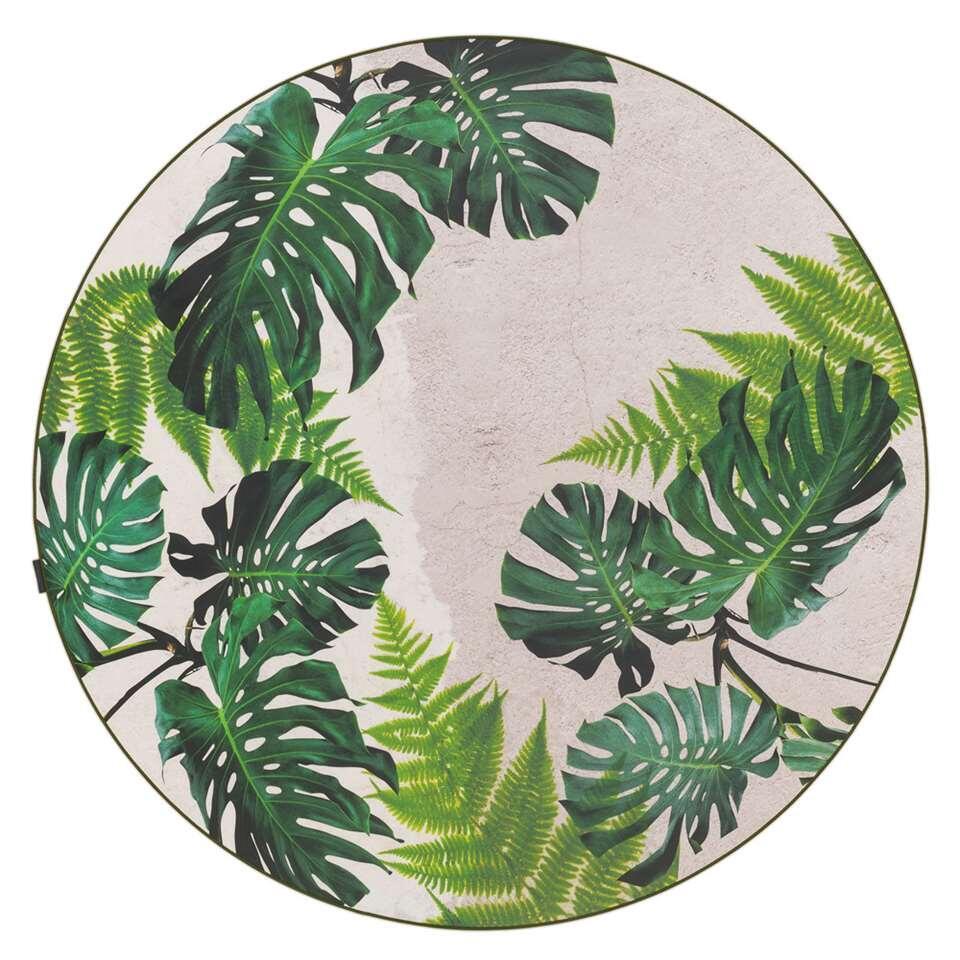 Tarkett vloerkleed Finally Vinyl™ Bladeren - groen - Ø200 cm - Leen Bakker