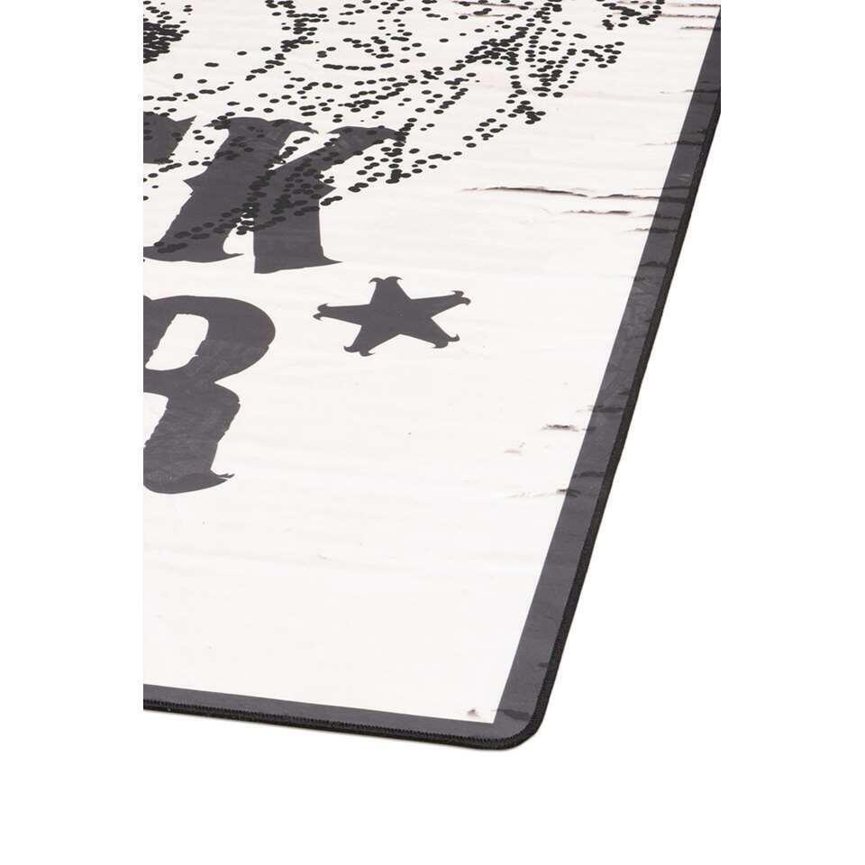 Tarkett vloerkleed Finally Vinyl™ Rockstar - zwart - 125x196 cm - Leen Bakker