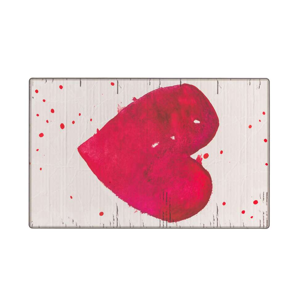 Tarkett vloerkleed Finally Vinyl™ Hart - rood - 125x196 cm - Leen Bakker