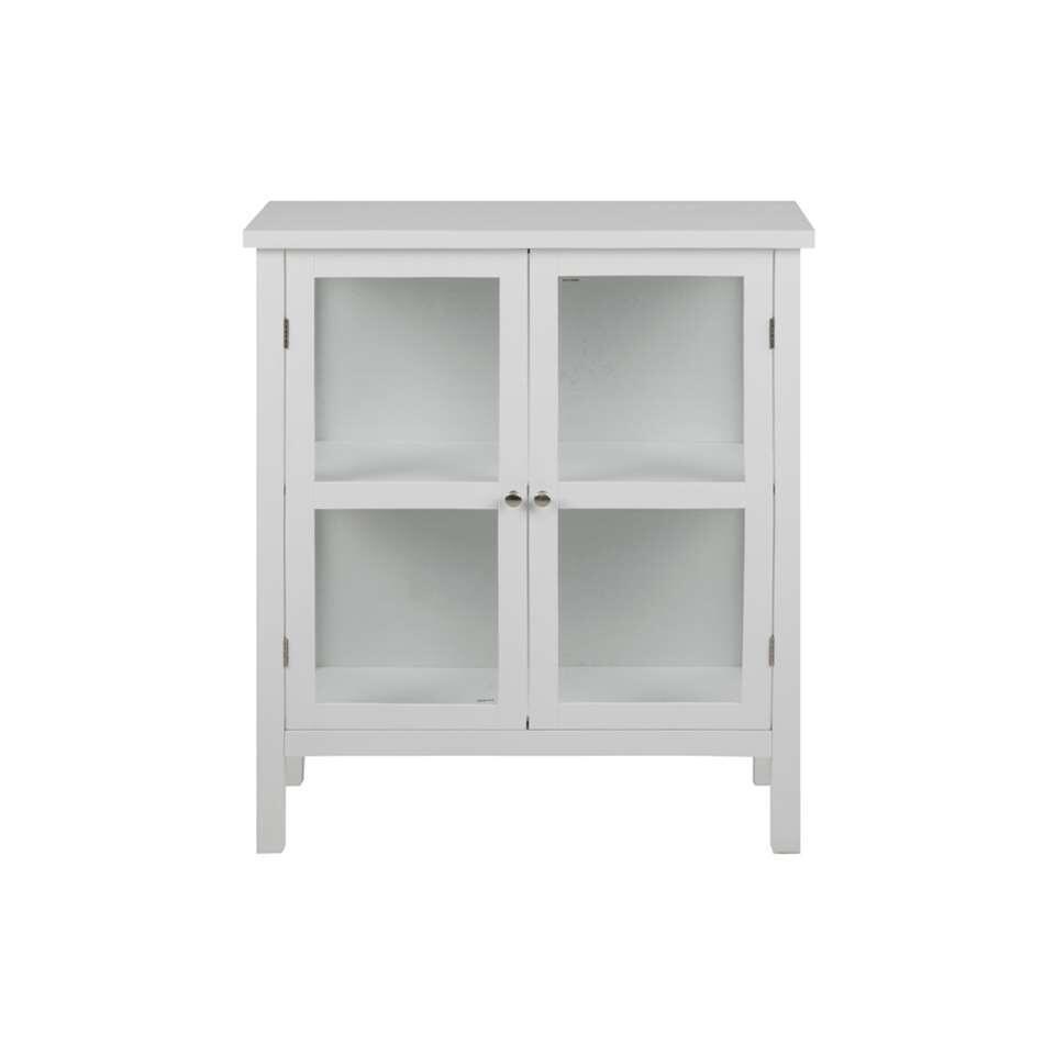 Vitrine Liza – wit – 99,5x80x35,5 cm – Leen Bakker